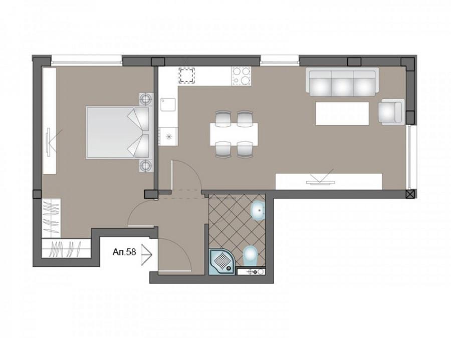Апартамент 58